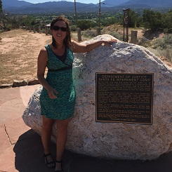 Kellie Nicholas, researcher and website coordinator for the CLOE project in Santa Fe, New Mexico, July 2016.