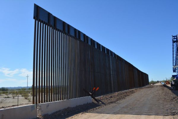 Border wall construction in Organ Pipe Cactus National Monument.