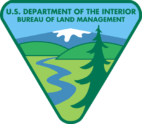 Current BLM logo showing natural landscapes without workers or industry.